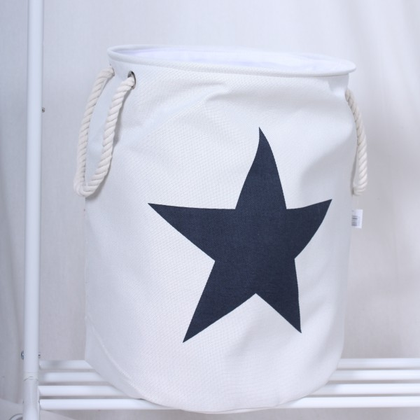 Wäschesack weiß mit einem blauen Stern