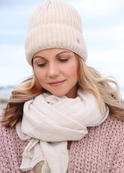 Leichter Baumwoll Schal in creme