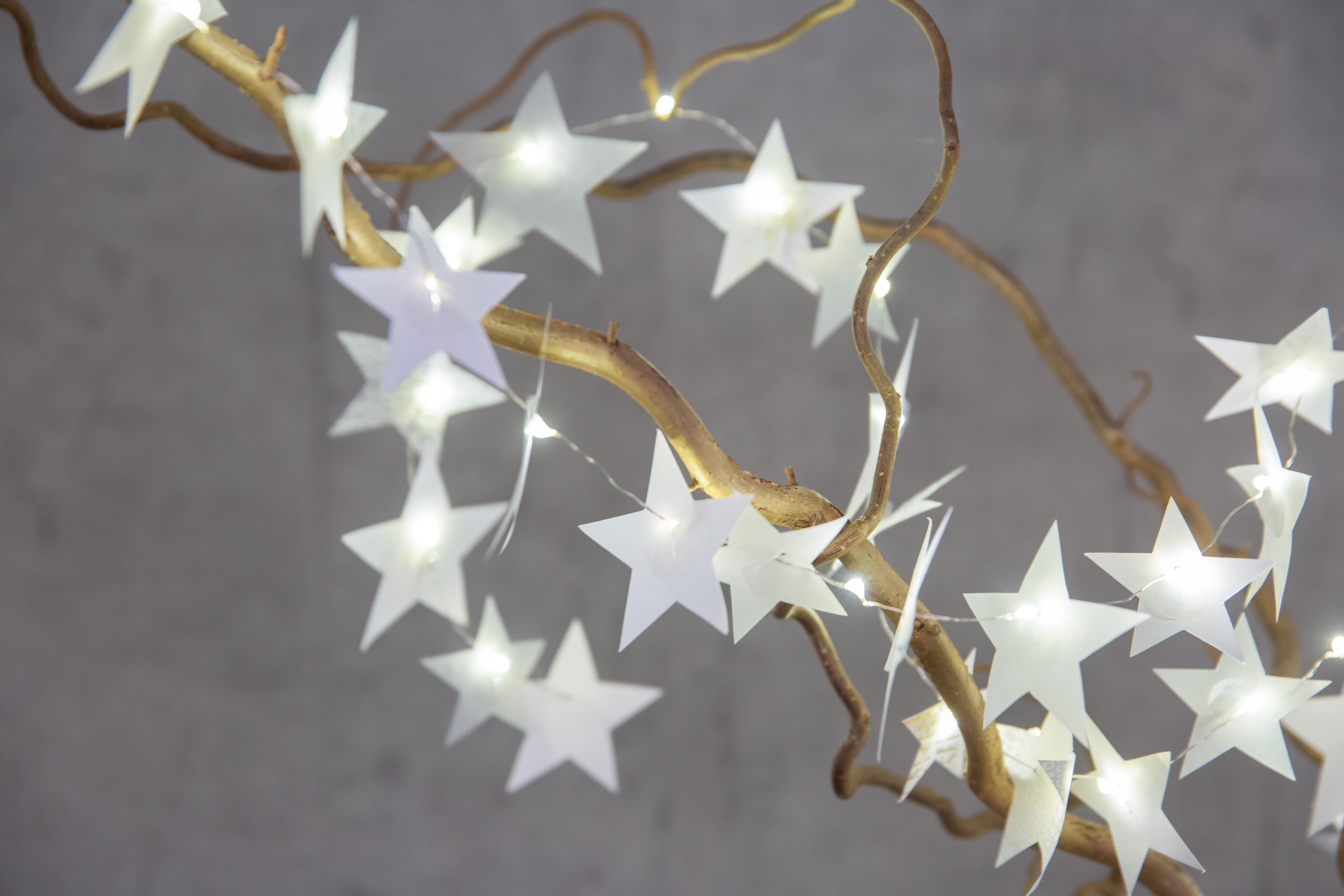 R der weihnachtszauber sternlichterkette silber for Deko accessoires