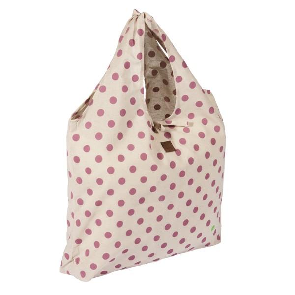 PAD Einkaufsbeutel mit Punkten in pink