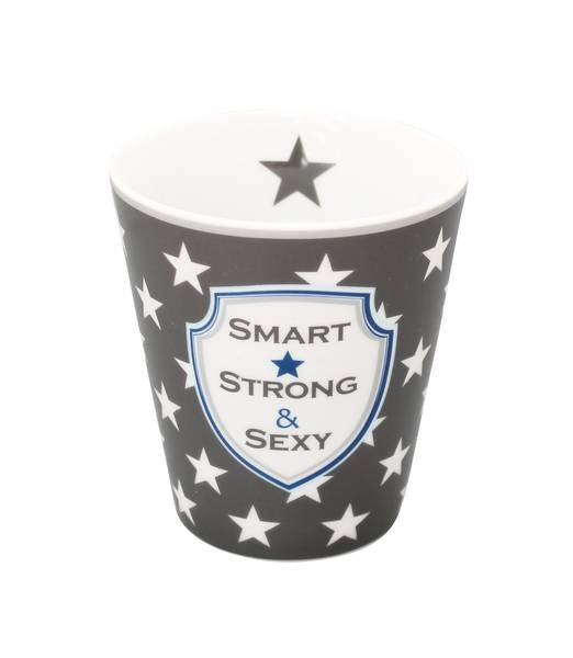 Krasilnikoff Happy Stars Mug Smart, strong, sexy