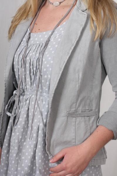 Sweat Blazer grau mit Pailletten auf den Ellenbogen M-XXL