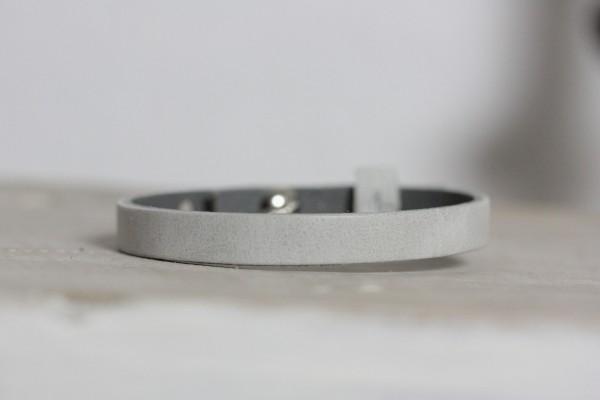 Armband beige/grau für Schiebeperlen