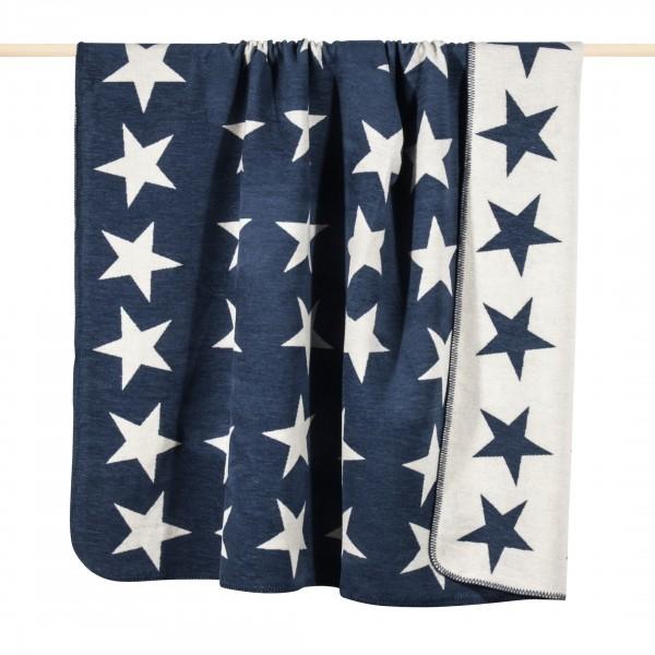 Pad Kuscheldecke mit Sternen in blau