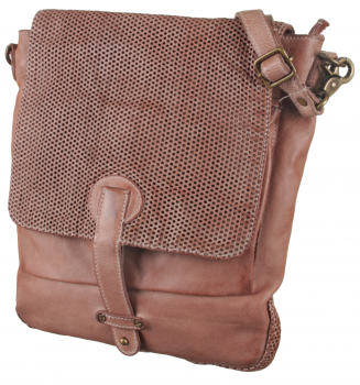 BULL&HUNT Ledertasche Messenger urban flat-perforation sand