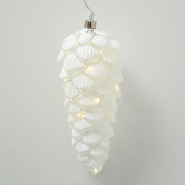 LED-Hänger Zapfen weiß 24 cm