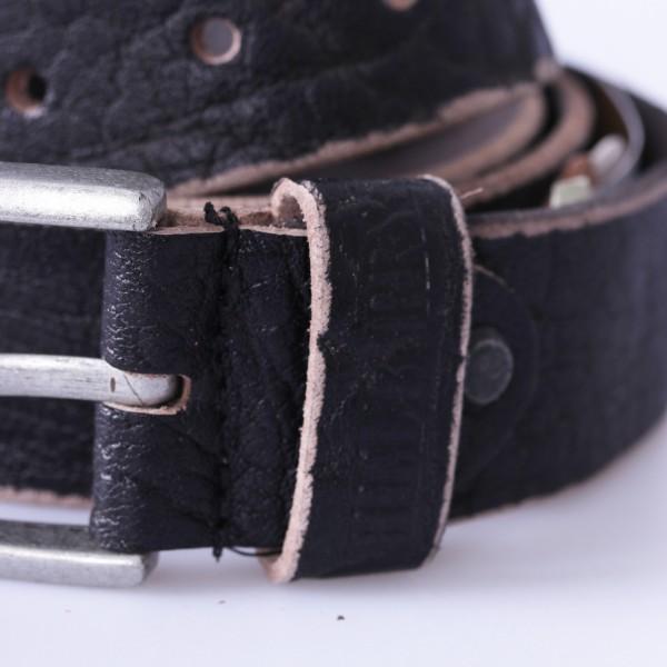 Leder Gürtel mit Used Effekt schwarz