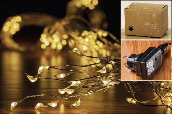 LED Lichterkette Cascade 250 LED mit Timer In und Outdoor
