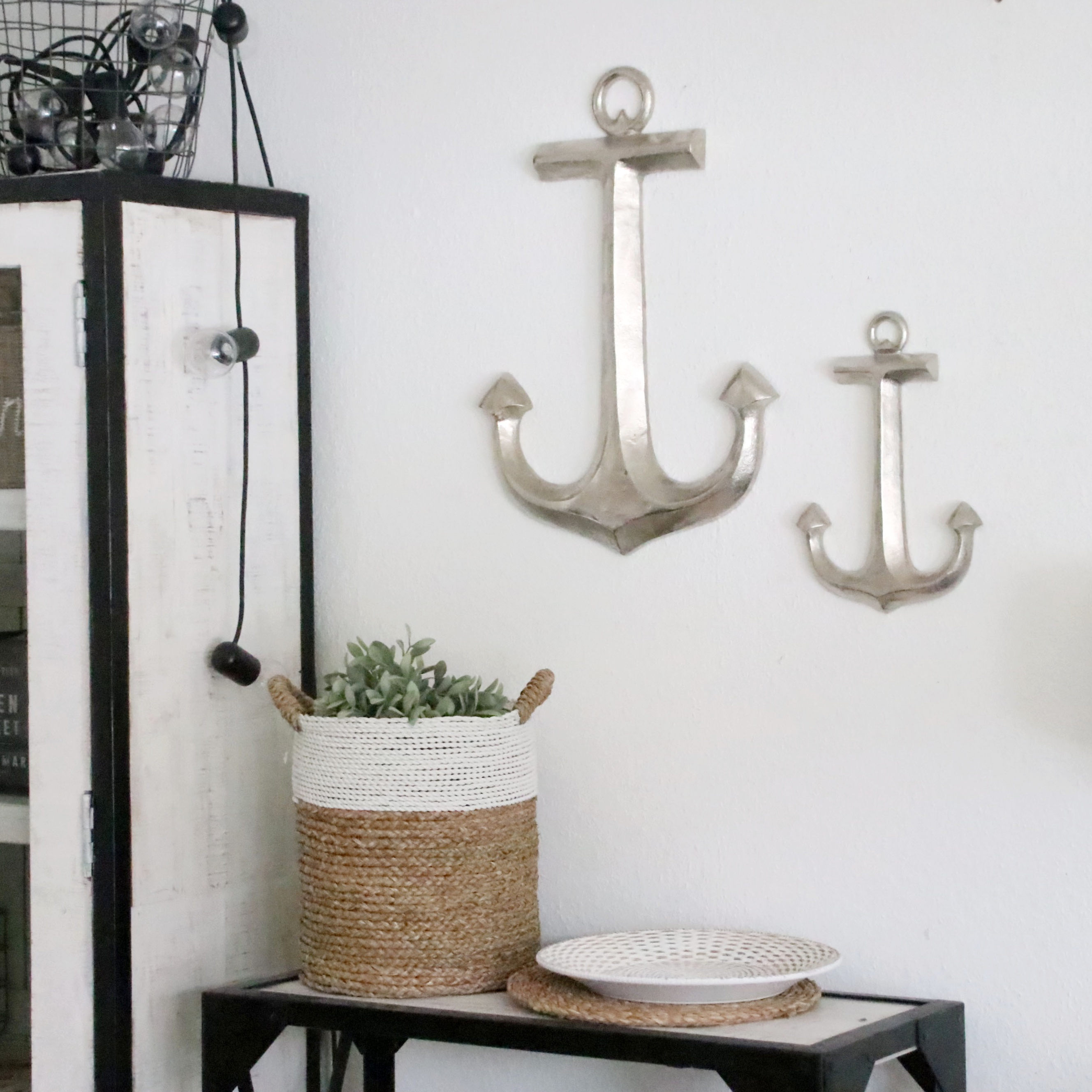 wandobjekt anker aluminium 2 gr en deko wohnen und dekorieren seaside64 deko. Black Bedroom Furniture Sets. Home Design Ideas