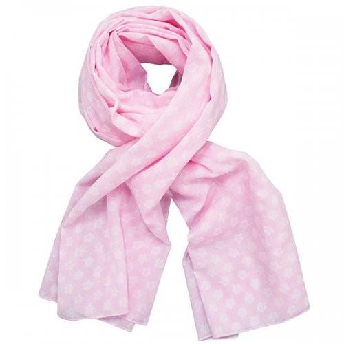 Krasilnikoff Tuch / Schal in rosa Retro Blumen