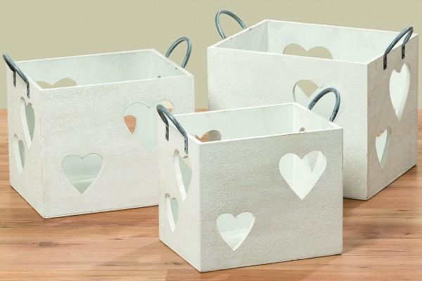 Holztruhe mit Herz in 3 Größen
