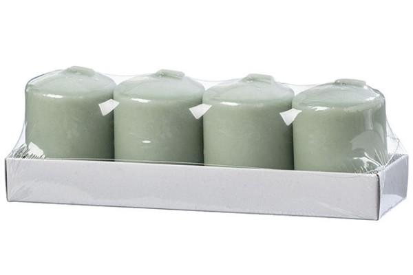 Kerzen lindgrün 4tlg. H5,5cm