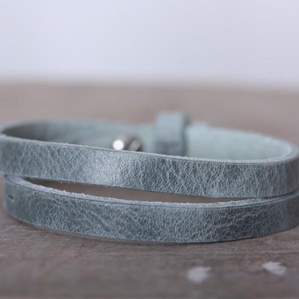 Armband doppelt gewickelt grün für Schiebeperlen