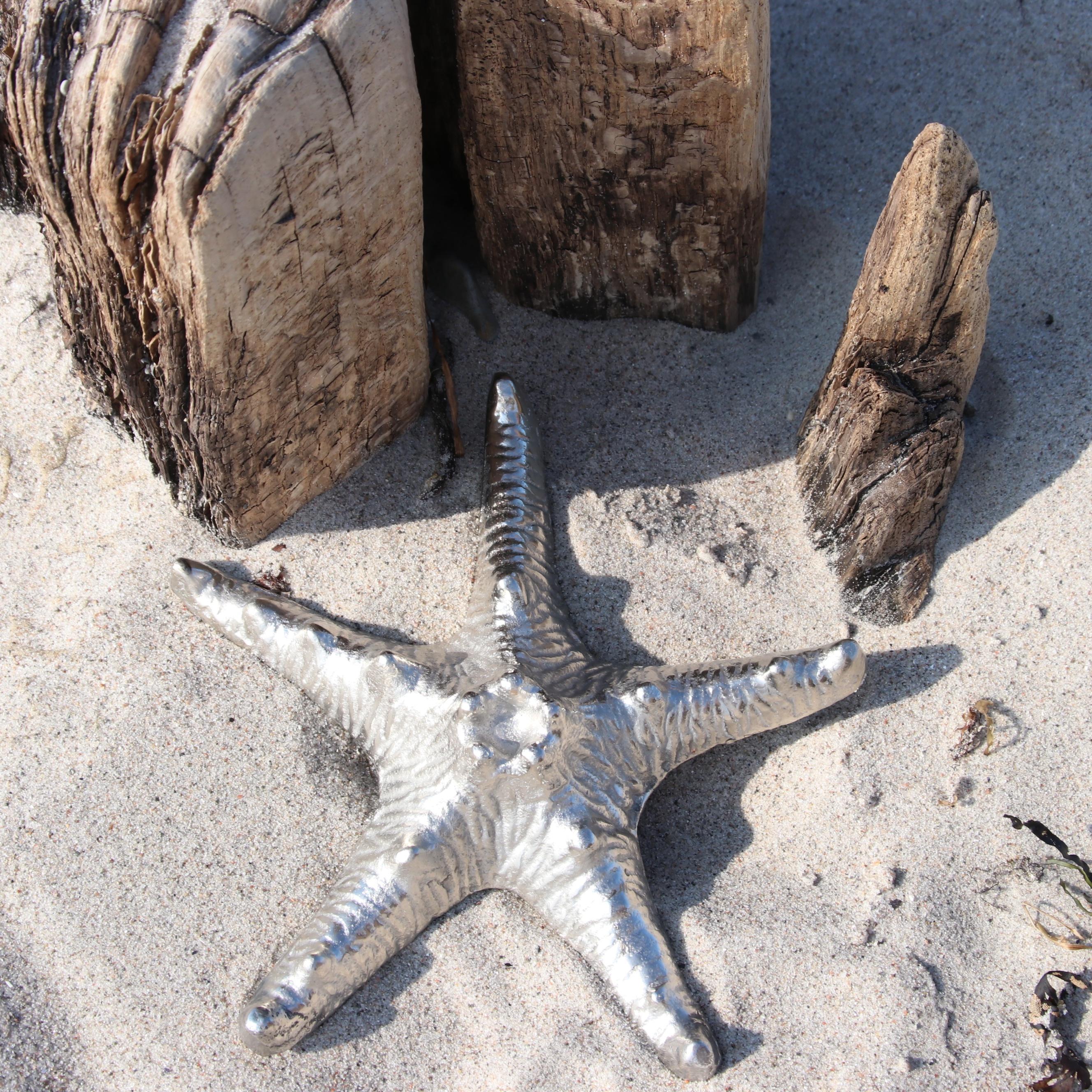 Meerestiere silber aluminium 2 varianten deko wohnen for Deko accessoires wohnen
