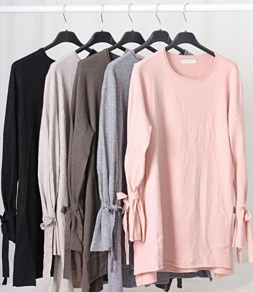 Pullover mit Schleifendetails schwarz S/M oder L/XL