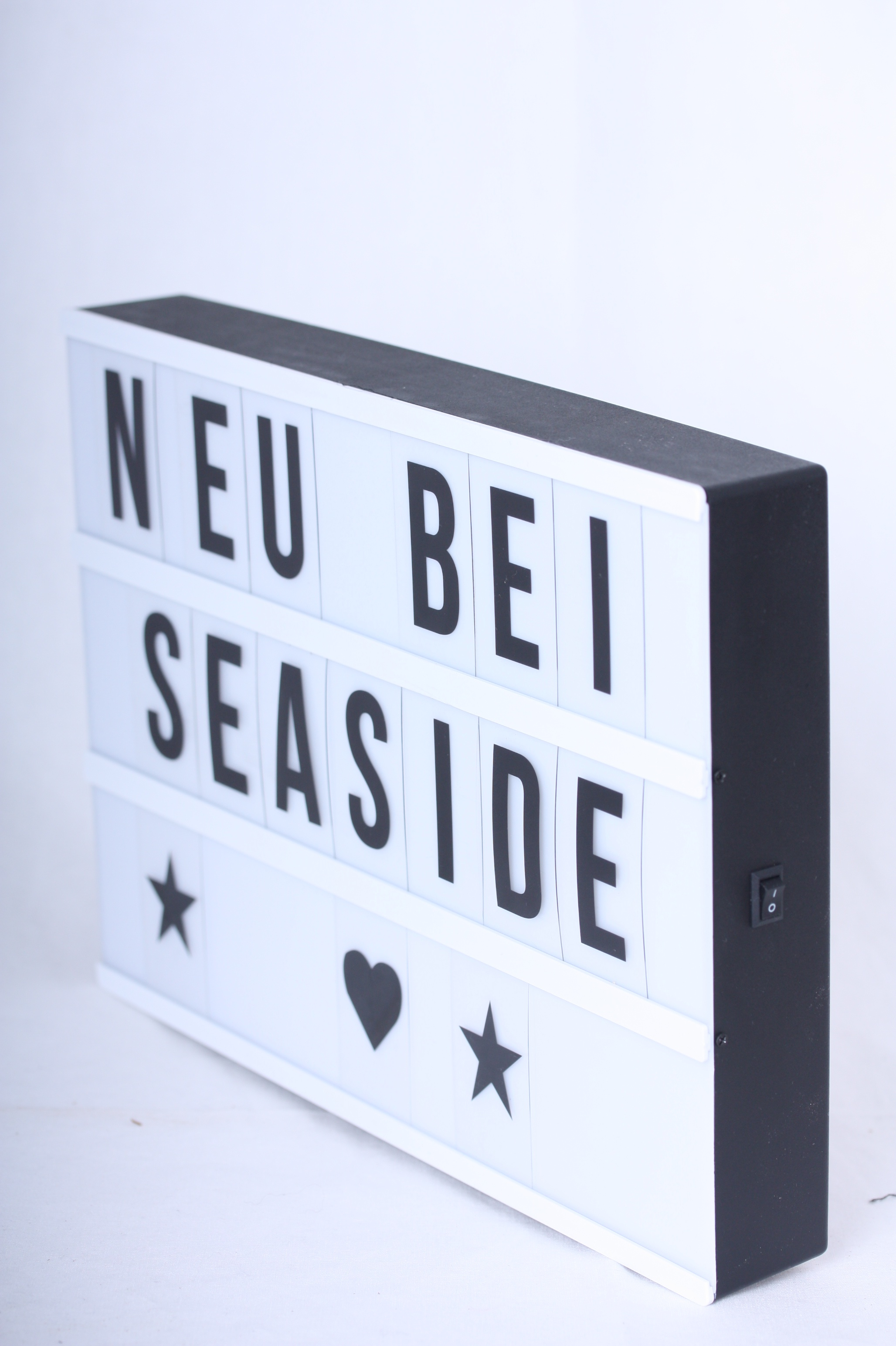 led lightbox a4 inkl buchstaben und symbole lichtbox. Black Bedroom Furniture Sets. Home Design Ideas