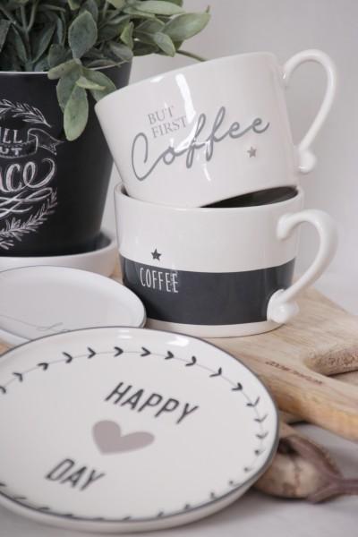 """Bastion Collection Tasse """"Coffee"""" mit schwarzem Stern"""