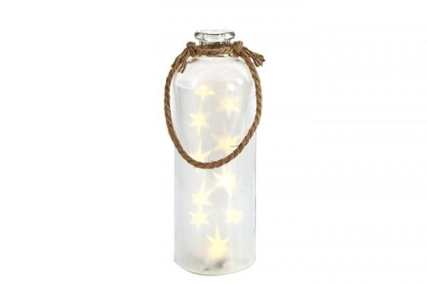 LED Flasche mit Sternen klein