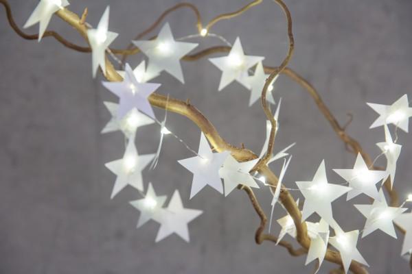 Räder Weihnachtszauber Sternlichterkette silber