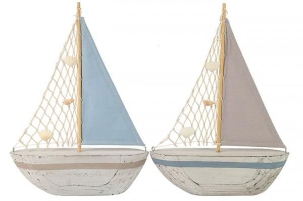 Segelboot aus Holz 2 Farben