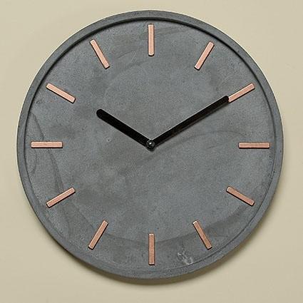 Hochwertige Betonnuhr | Wanduhr grau moderne Designer Uhr 28 cm
