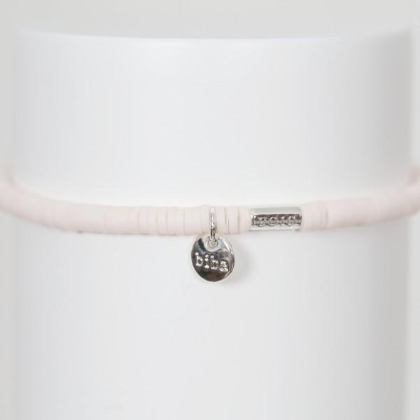 Biba Perlenarmband rosé Plättchen
