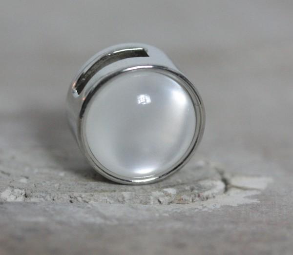 Schiebeperle weiß perlmutt