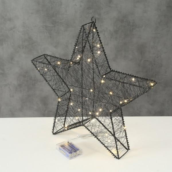 LED Stern schwarz 40 cm mit 40 LEDs mit Timer