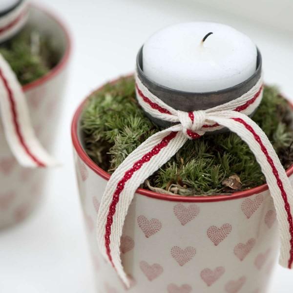 Teelichtpieker / spiess grau/zink