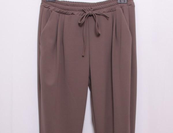 Bundfaltenhose im Pull On Style taupe M-XXL