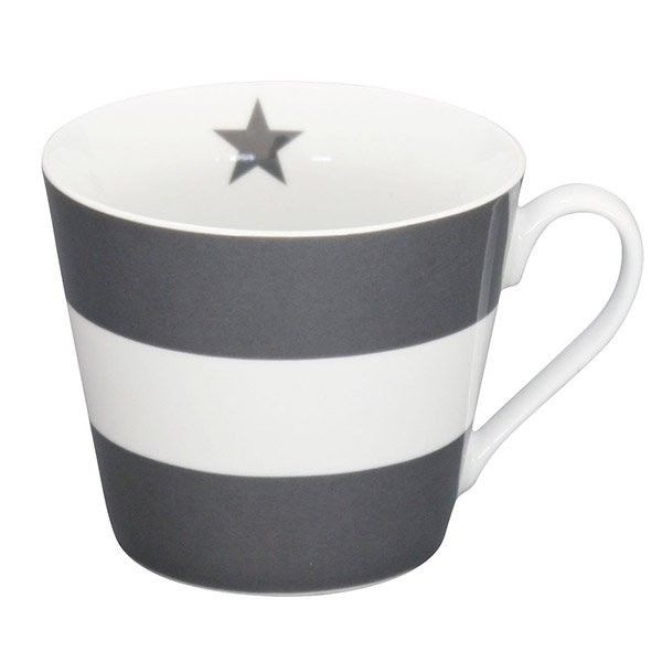 Krasilnikoff Happy Cup Mega Stripes grau