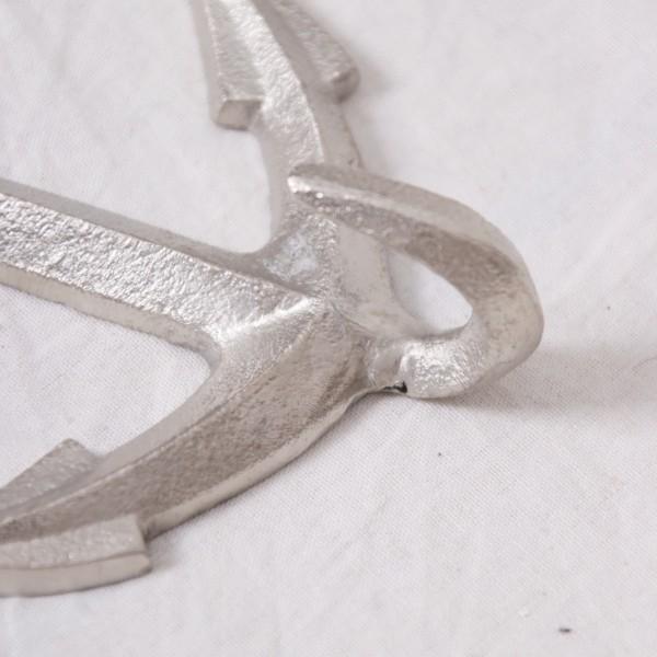 Garderobenhaken / Haken Anker Aluminium groß