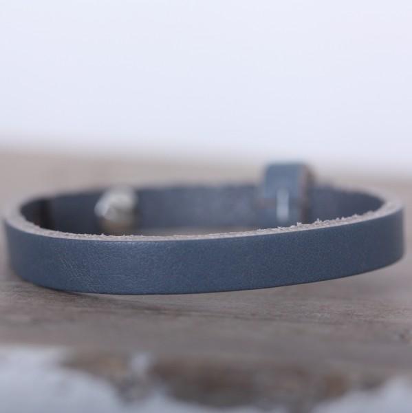 Armband einfach gewickelt dunkelgrau für Schiebeperlen