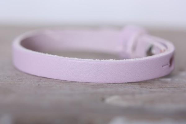 Armband einfach gewickelt rosa für Schiebeperlen