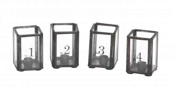 Glasbox Kerzenhalter 1-4 für Tannbaumkerzen
