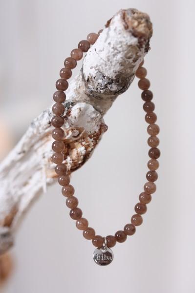 Biba Perlenarmband taupe glänzend