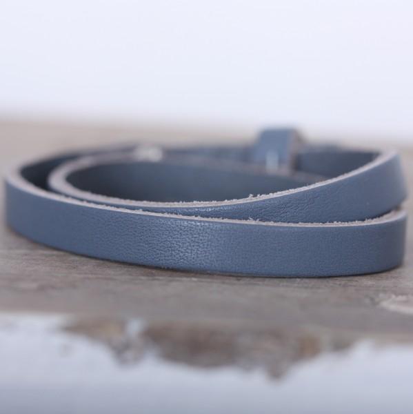 Armband doppelt gewickelt dunkelgrau für Schiebeperlen