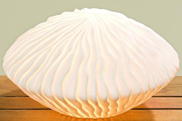 Lampe Koralle / Qualle Durchmesser 30cm aus Kunstharz in weiß