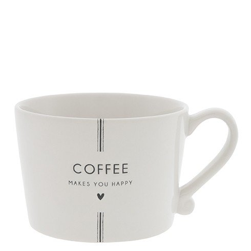 Bastion Collections Henkeltasse Coffee makes you happy