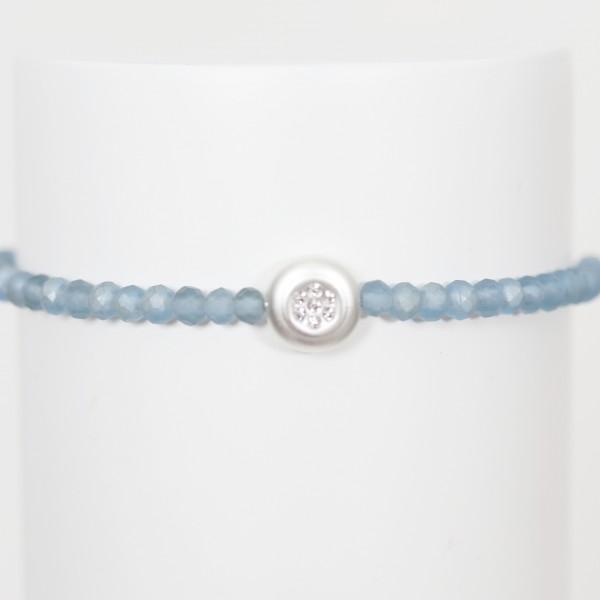 Biba Perlenarmband Crystal blau mit Glitzerstein