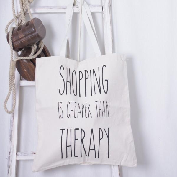 Stoffbeutel Aufschrift Shopping