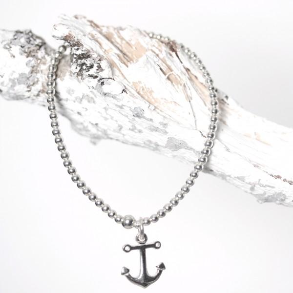 Perlenarmband 925er silber mit Anker