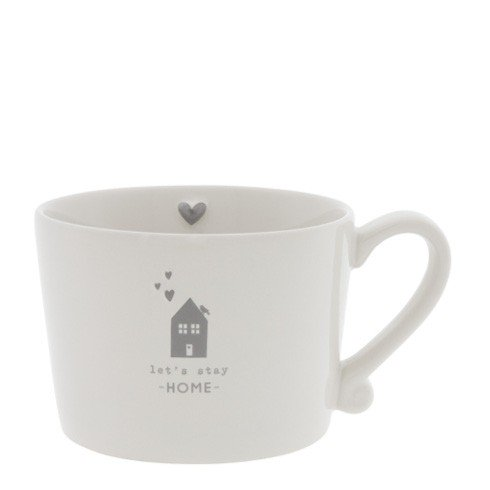 Bastion Collections Henkeltasse let`s stay Home grau