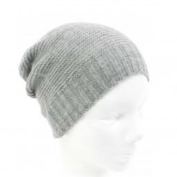 Mütze Strick / Beanie hellgrau