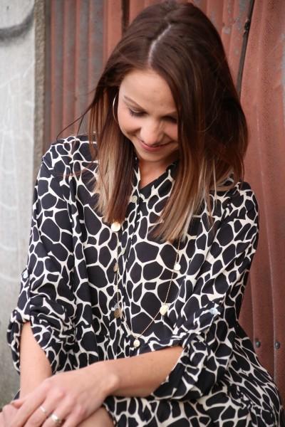 Hemdkleid Kleid Animal Print