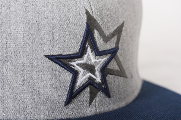 Snapback/ Cap Sterne grau/blau
