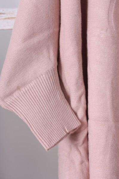 Poncho / Cape rosa mit Fransen Gr. M/L oder L/XL