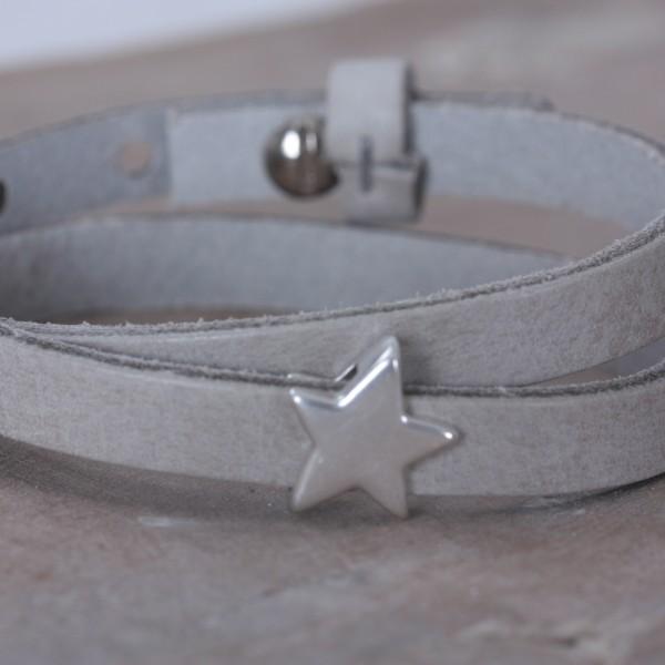Schiebeperle silberner Stern