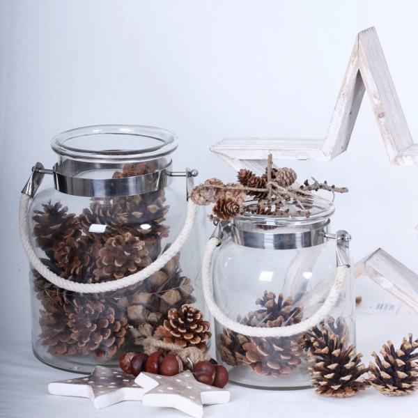 Windlicht/Vase mit Glasschliff groß oder klein