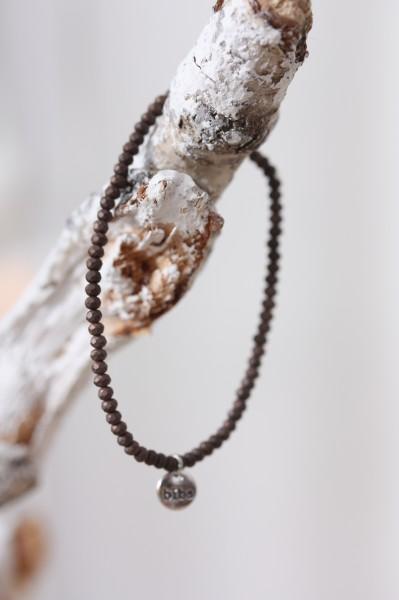 Biba Perlenarmband braun matt